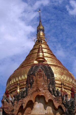 dhamma: Golden spire of Dhamma Yazika pagoda in Bagan, Myanmar