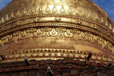 dhamma: Golden dome of Dhamma Yazika pagoda in Bagan, Myanmar