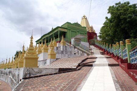 stupas: Golden stupas on Sagaing Hill, Mandalay, Myanmar