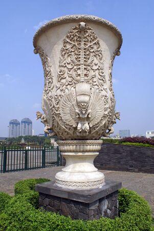 Big vase on the Lapangan Merdeka in central Jakarta, Indonesia             photo