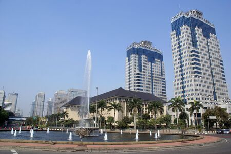 Big fountain on Jalan Tamrin in central Jakarta, Indonesia