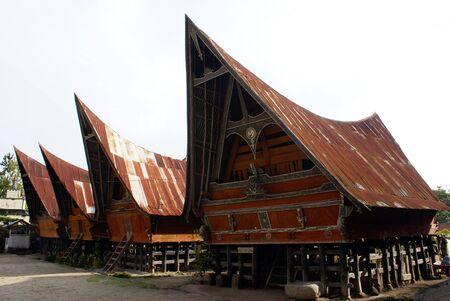 Houses on the Samosir island, lake Toba