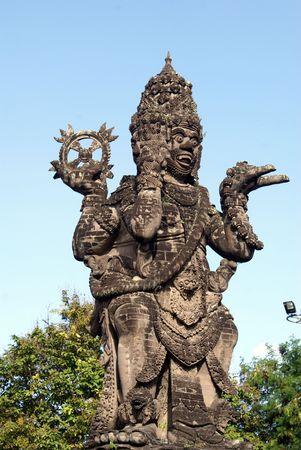 Monument Vishnu on the square in Denpasar, Bali Stock Photo - 3417075
