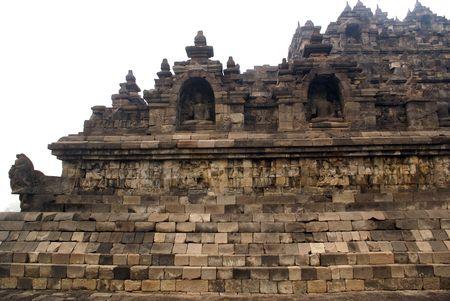 Gran histórico monumento budista de Borobudur, Java, Indonesia  Foto de archivo - 3419878