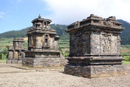 oldest: Arjuna complex on Dieng plateau, Java, Indonesia
