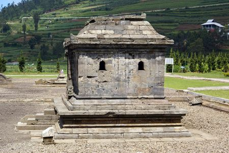 oldest: Grave in Arjuna complex on plateau Dieng, Java, Indonesia