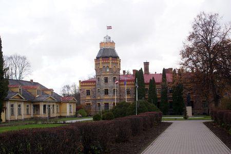 sigulda: New Castle en Sigulda, cerca de Riga, Letonia Foto de archivo