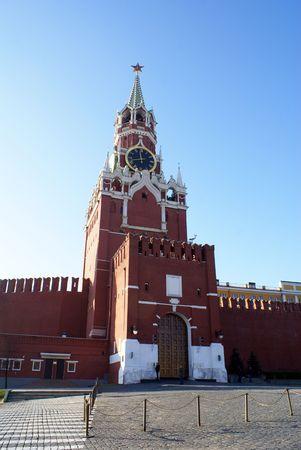 spasskaya: Spasskaya Bashnya and Kremlin on the Red Square, Moscow