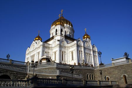 crist: Cathedral Crist Savior in Moscow, Russia                  Stock Photo
