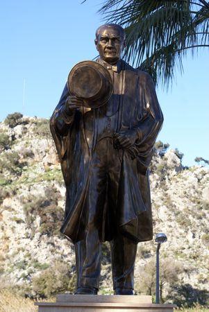 Monument of bronze Ataturk in Dalyan, Turkey              photo