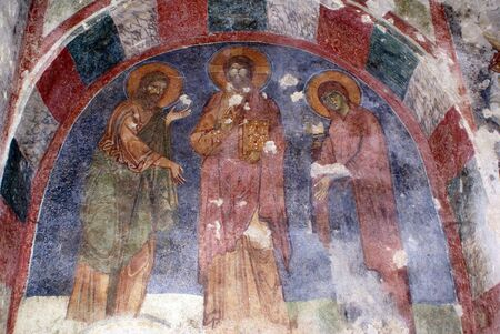 nicolas: Figures on thewall of church St Nicolas in Demre, Turkey
