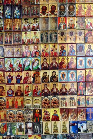Christian icons on the plate in Demre, Turkey