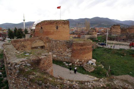 iznik: Yenishehir gate and wall of Iznik, Turkey