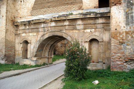 iznik: Wall and Istanbul gate of Iznik, Turkey