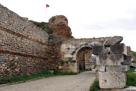 iznik: Yenishehir gate of old walls of Iznik, Turkey