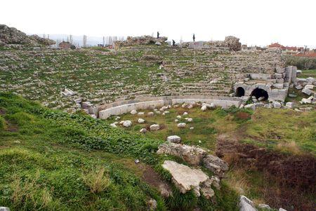 iznik: Ruins of roman theater in Iznik, Turkey                  Stock Photo