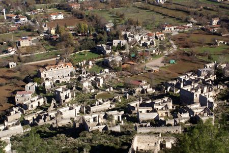 kayakoy: Ruins and village Kayakoy near Fethie, Turkey