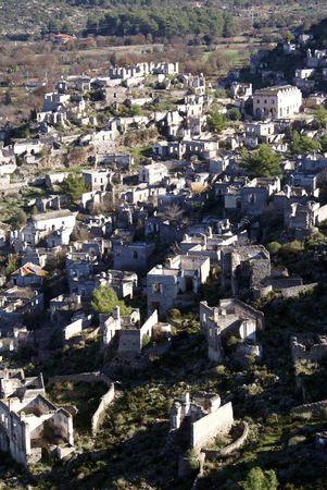 kayakoy: Ruins of greek village Kayakoy near Fethie in Turkey
