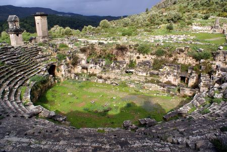 Theater and ruis on Xanthos in Western Turkey
