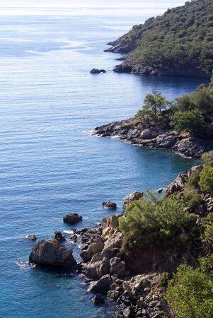 oludeniz: Sea coasts with rocks near Oludeniz, Turkey