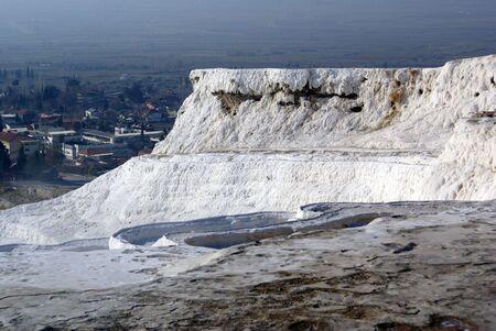 carbonates: Travertine mount in Pamukkale, Turkey