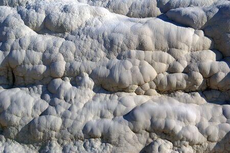 deposit slip: Natural travertine rock in Pamukkale, Turkey