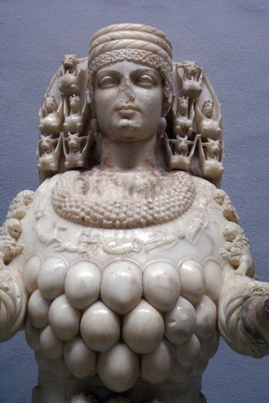 testicle: Head of Artemis in Selchuk museum, Turkey