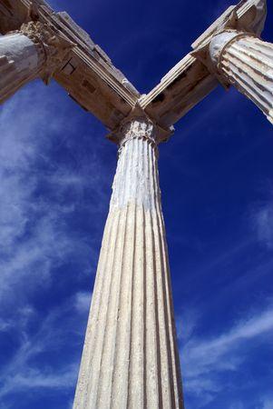 near side: Columns of Athena temple in Side near Antalya, Turkey