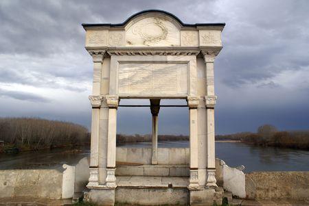 edirne: Old Ottoman bridge in Edirne in Turkey