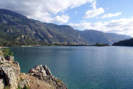 oludeniz: Oludeniz, sea and mountain, near Fethie, Turkey                Stock Photo