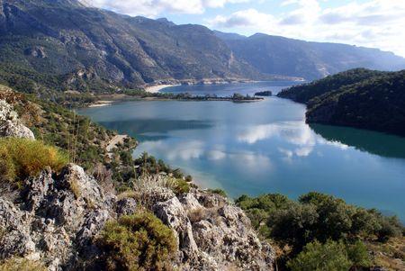 oludeniz: Mountain and Oludeniz bay near Fethie, Turkey