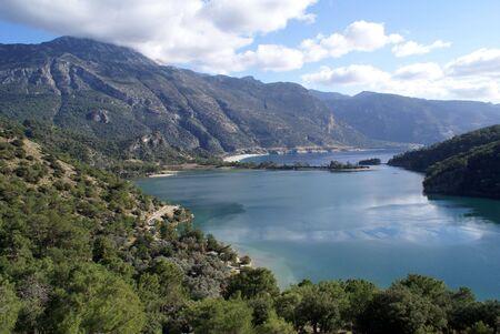 oludeniz: Oludeniz bay and mountain near Fethie, Turkey coast           Stock Photo