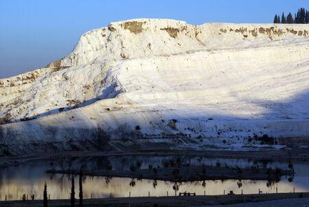 Lake and mount in Pamukkale, Turkey       photo