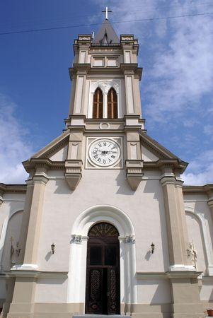 catholocism: Facade of catholic church in Odessa, Ukraine