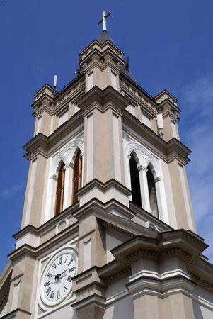 catholocism: Top of catholic church in Odessa, Ukraine               Stock Photo