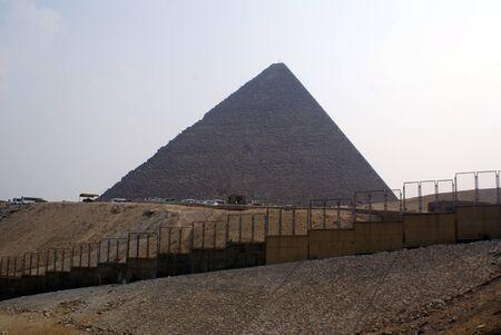 chephren: Fence and big piramid in Giza, Egypt
