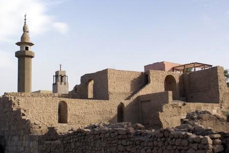 minaret: Minaret and old fort in Aqaba, Jordan                  Stock Photo