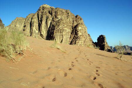 Sand and mount in Wadi Rum Desert, Jordan Stock Photo - 7574235