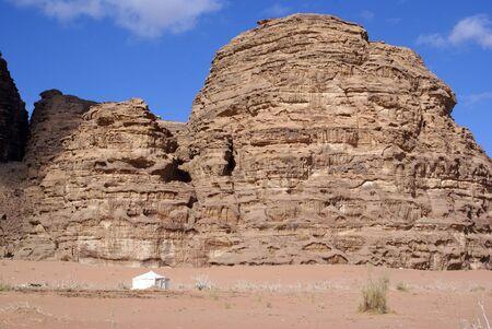berber: Berber camp near mount in Wadi Rum desert, Jordan