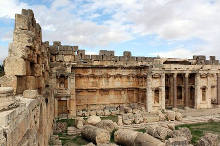 heliopolis: On the corner of big temple in Baalbeck, Lebanon