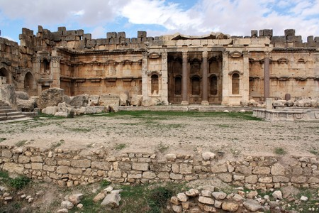 heliopolis: Ruins of old temple in Baalbeck, Lebanon