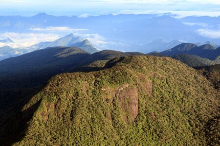 View on mountain from Adams Peak in Sri Lanka Stock Photo
