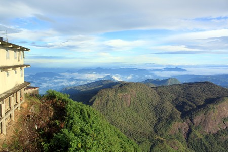 View from Adam's Peak near monastery, Sri Lanka Stock Photo - 7575401