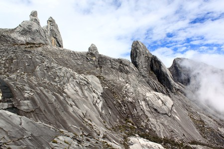 Rocks on the top of mount Kinabalu in Sabah, Borneo, Malaysia photo