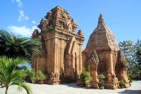 Brick cham towers in Nha Trang, Vietnam photo