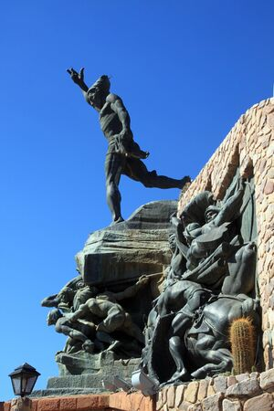 liberator: Monument of libertador in Humahuaca in north Argentina