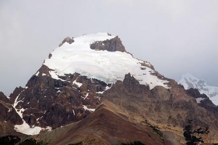 chalten: Glacier on the top of mount near El Chalten, Argentina