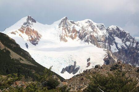 cerro fitzroy: Mountain in national park near El Chalten, Argentina