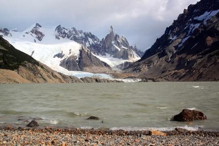 chalten: Lake and glacier in national park near El Chalten, Argentina