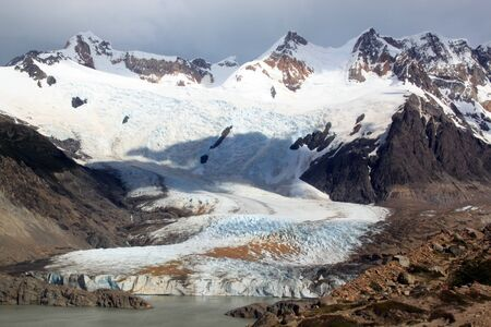 Lake and glacier n mountain near El Chalten, Argentina Stock Photo - 7640363
